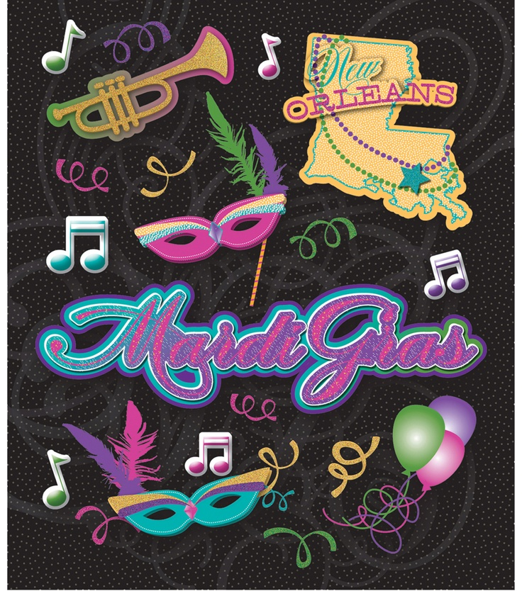 Masks music more mardigras stickers