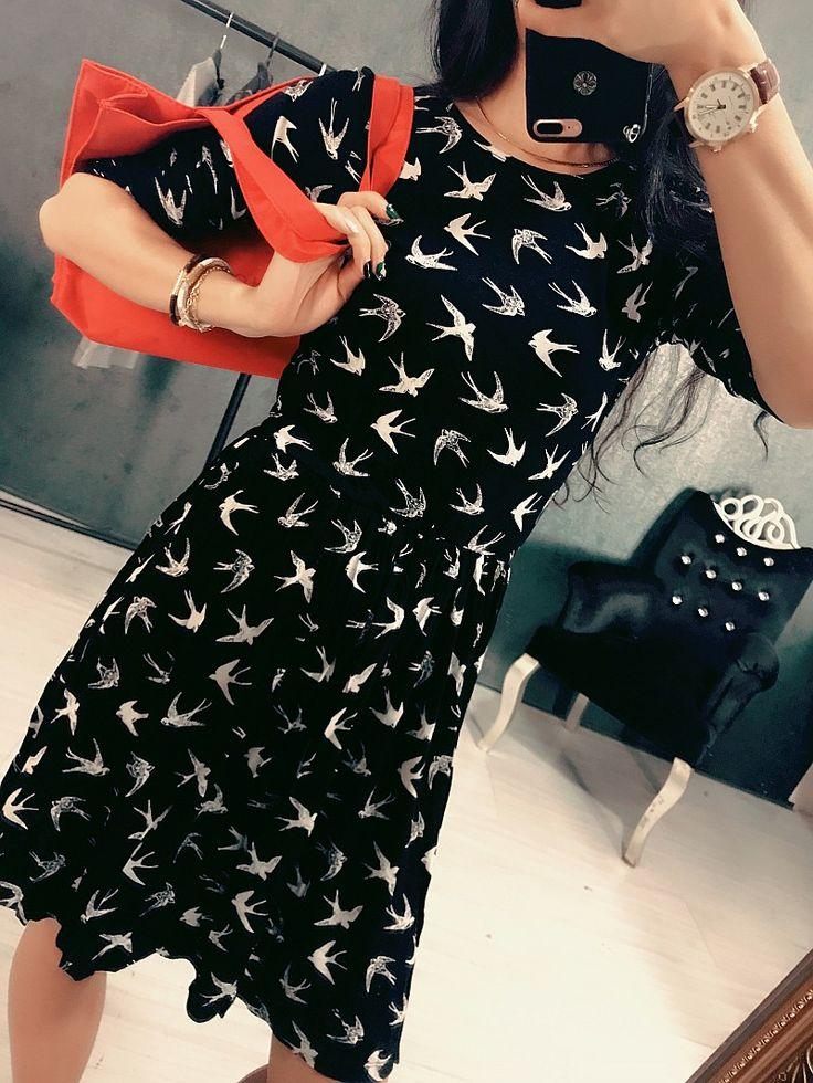 17 весной и летом новый европейский и американский печати прилива карты проглатывать шею длинный отрезок с короткими рукавами футболки женщин платья потерять большой размер - Taobao
