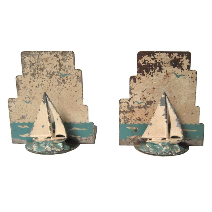 1930s Sailboat Bookends