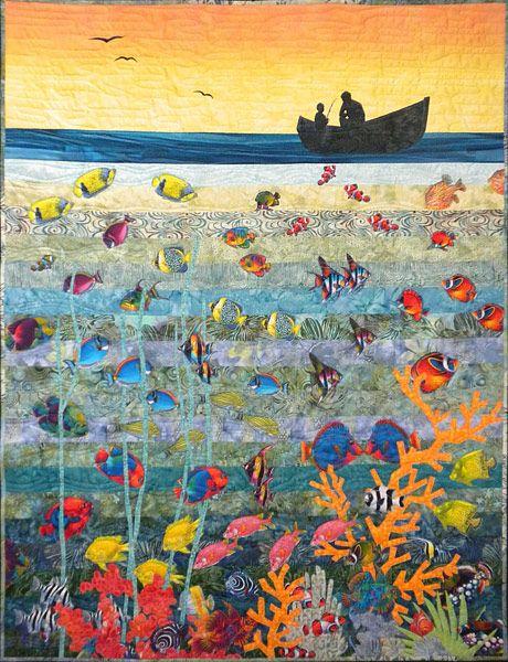 Kate Themel, Artist - Braydon's Ocean quilt