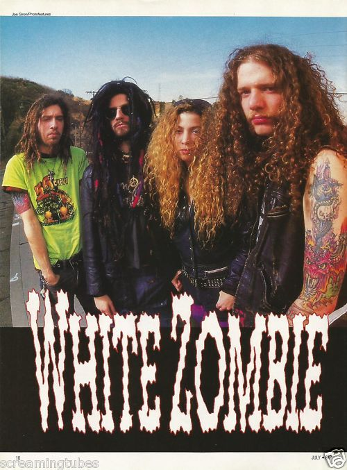 1992-WHITE-ZOMBIE-GUITAR-PHOTO-PINUP-AD.jpg (500×677): Rob Zombie, Good Time