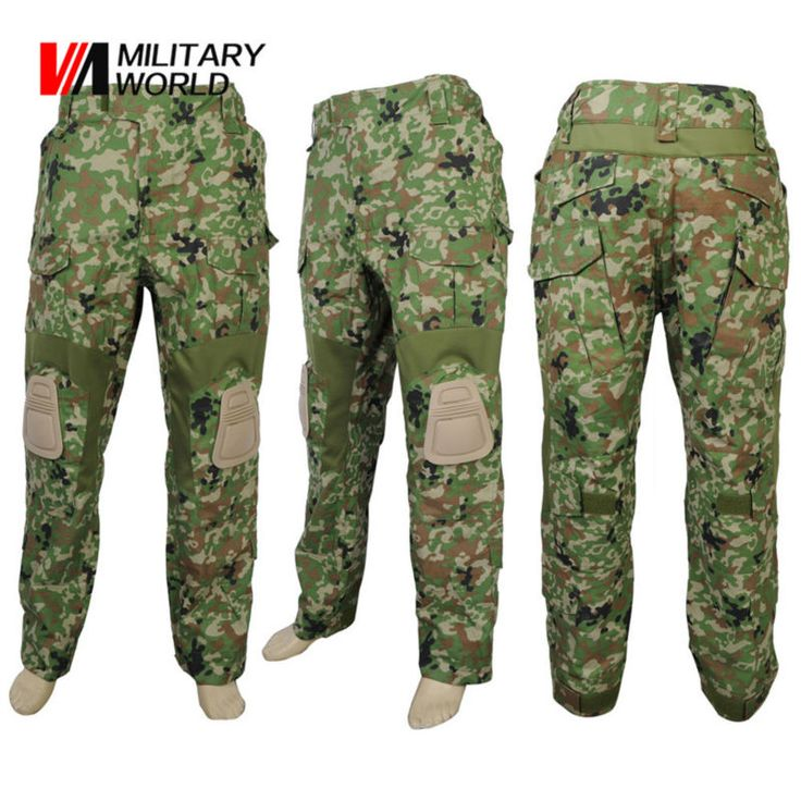 Man Military Tactical V2 Long Pants with Knee Pads Combat Hunting Camouflage Trousers Clohting Sport Camping Hiking Men Pants
