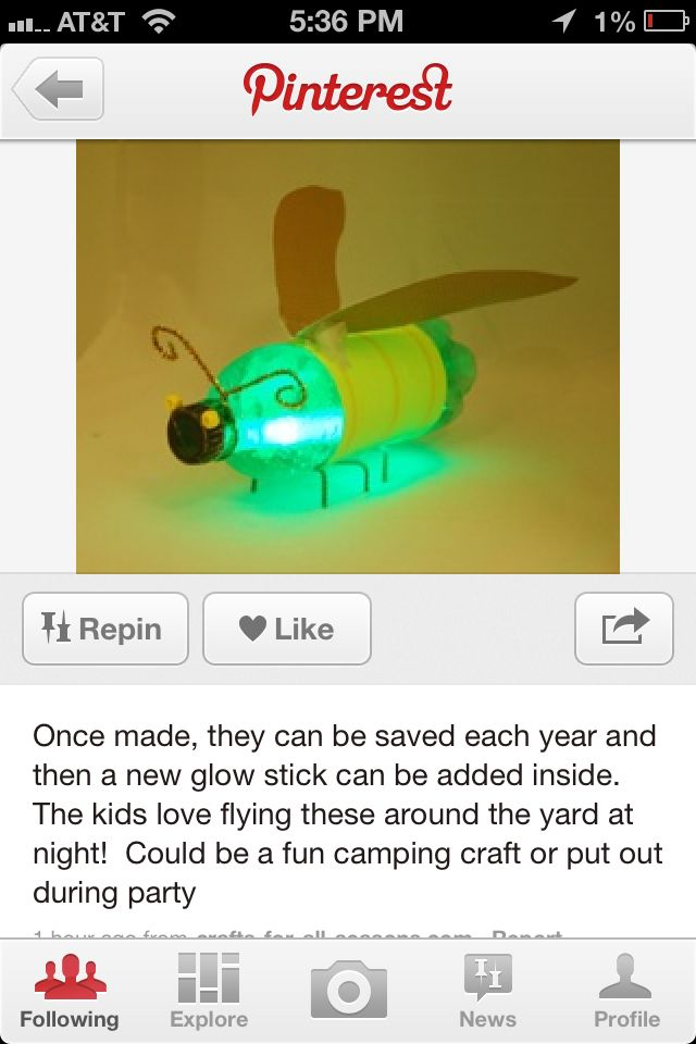 This Is The Firefly Craft That I Will Do With Grandkids At Some Point Fireflies Camping 2017Tent