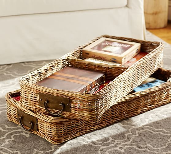 Decorative Boxes Pottery Barn : Best images about baskets buckets crates boxes on