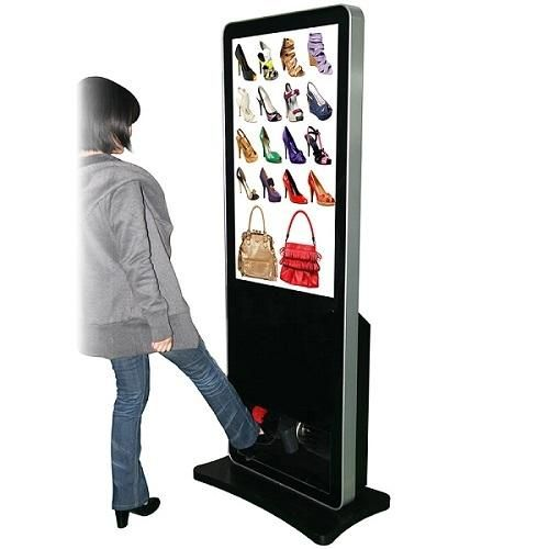 Stand Alone Digital Signage Advertising Media PlayerWith Shoes Polisher | Welcome To Core21