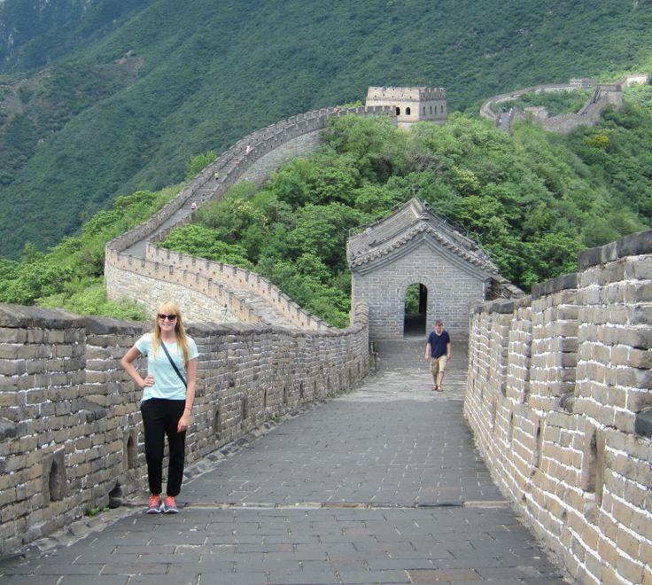 J posing on the Great Wall near Beijing