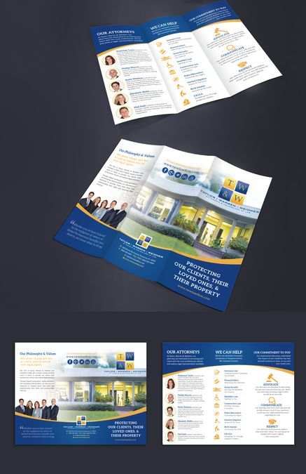 7 best Brochures images on Pinterest Colors, Brochures and - law firm brochure