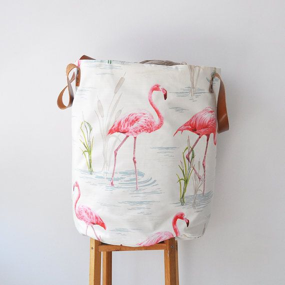 Yes, Please! Nursrey Basket with Flamingos!