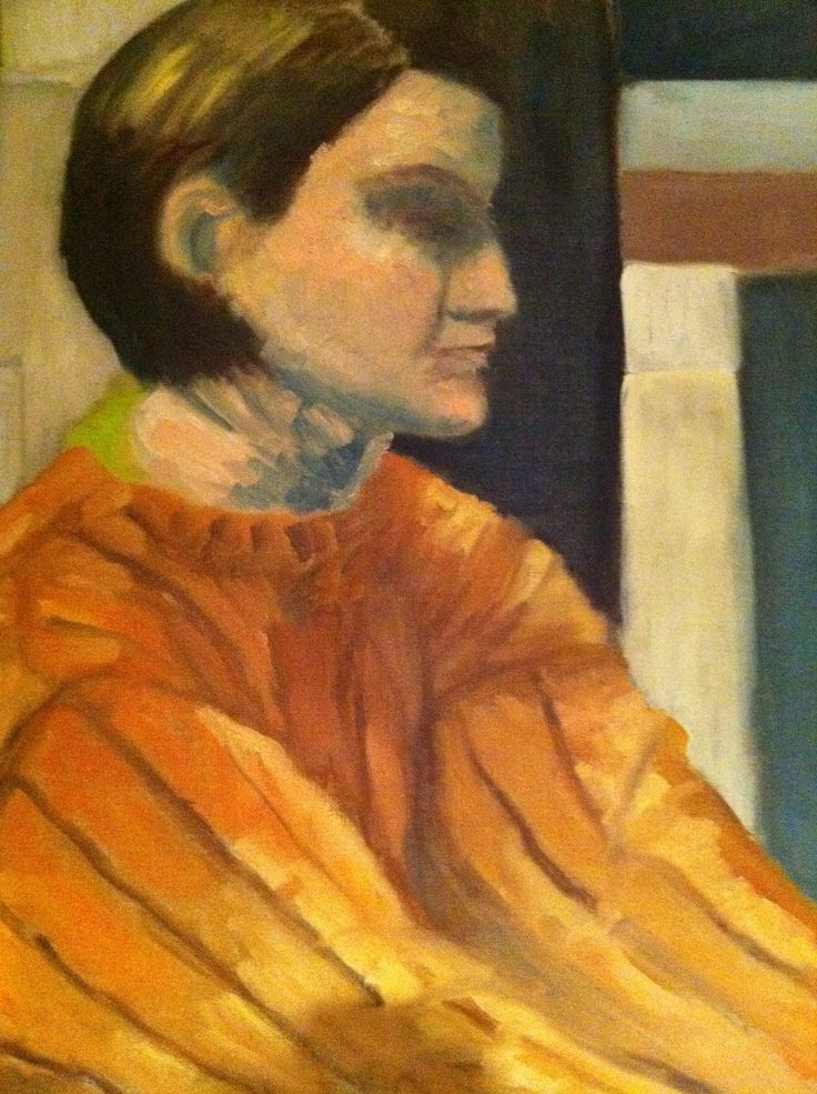 Girl with orange sweater