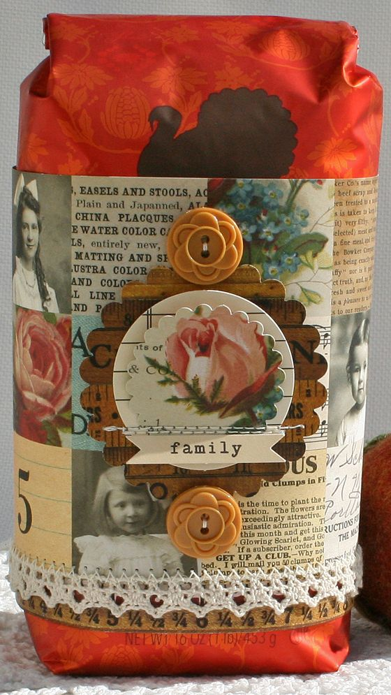 a Coffee Bag Wrap!! Farmhouse-October Afternoon www.octoberaftern...