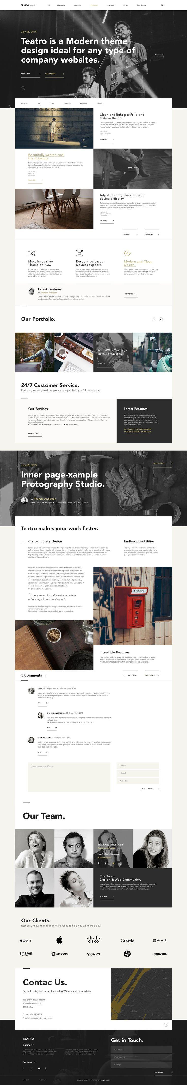 Teatro Corporate Psd Website | Psd Web Templates | Pixeden