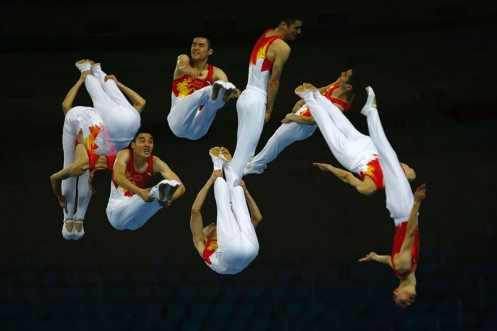 26 September: China's Tu Xiao competes in the men's trampoline event during the 17th Asian Games in Incheon, South Korea