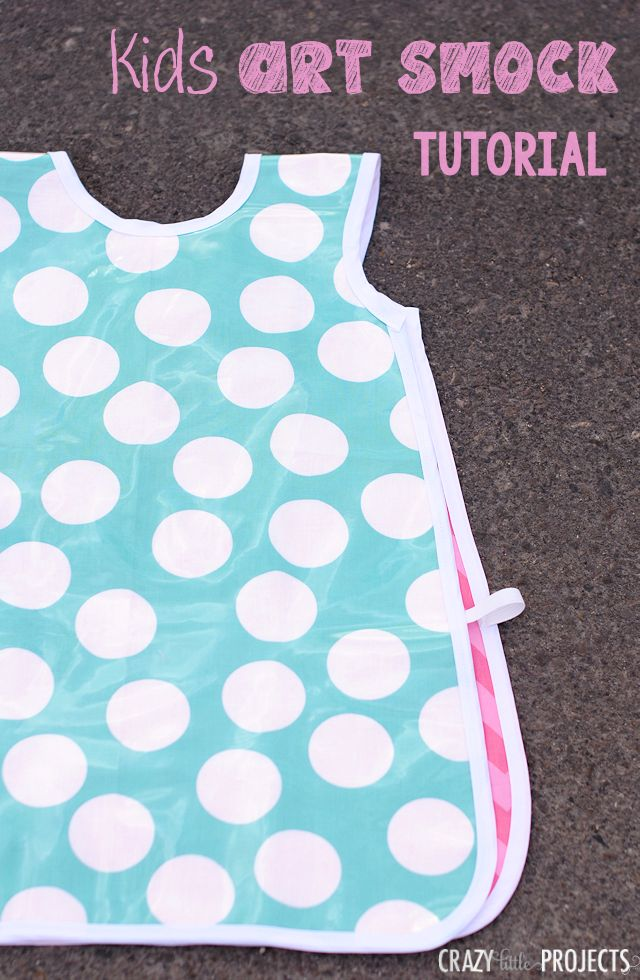 Kid's Art Smock Tutorial by Crazy Little Projects