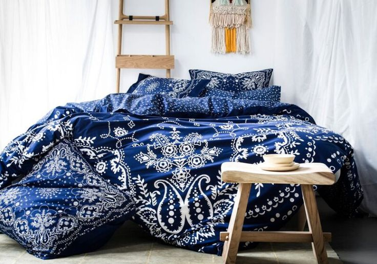 Bandana - Housse de couette - Bleu - Essix home collection