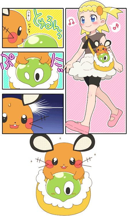Squishy Pokemon Anime : Bonnie, Dedenne and Squishy Bonnie is cute Pinterest