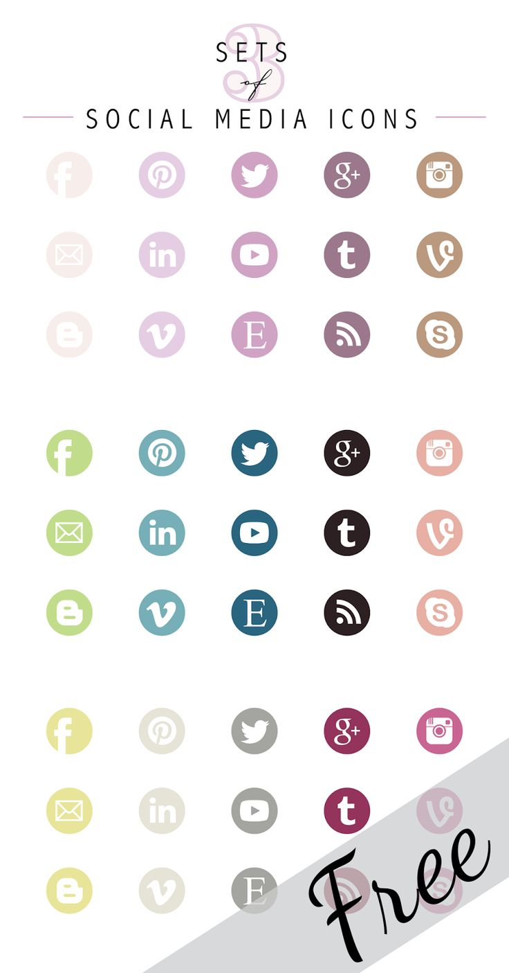 Designs By Miss Mandee: 3 Free Sets of Social Media Icons