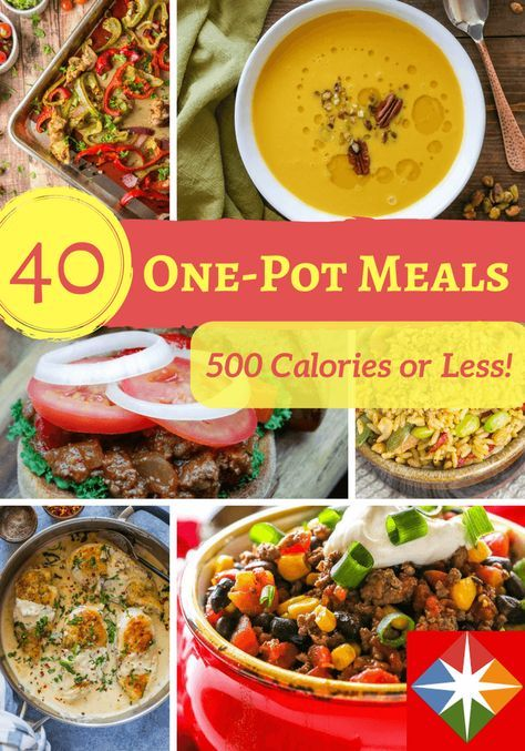 Looking for a meal that is 500 calories or less and that is easy to make? Here are 40 one-pot, easy-to-make meals all in one place!