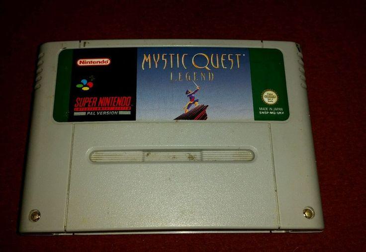 Mystic quest legend super nintendo snes