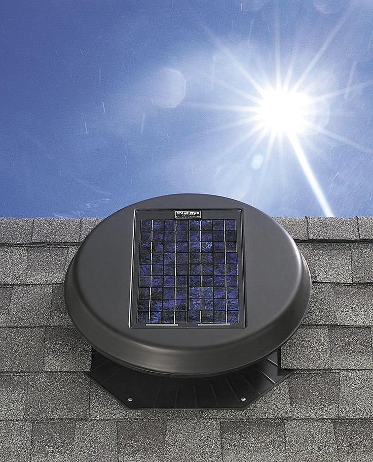 Solar Powered Attic Fan Solar Power Renewable Energy