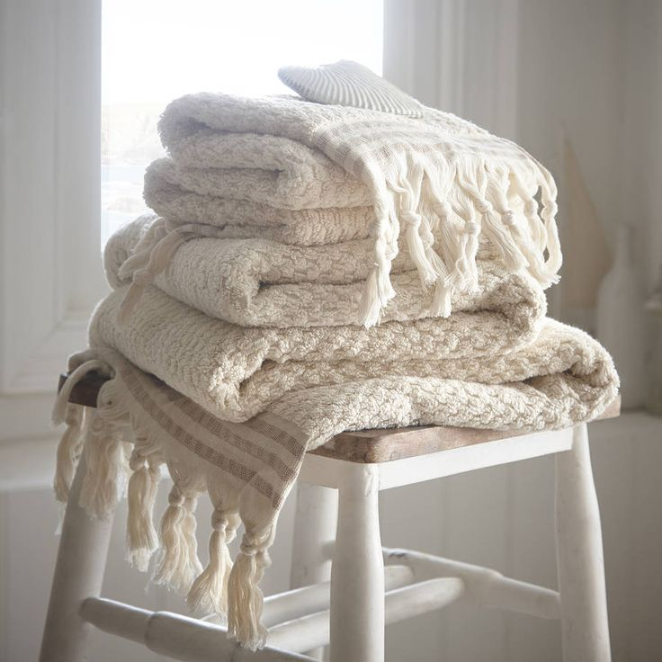 Haven Turkish Bath Towel. Made from high quality pure Turkish cotton these attractive bath linens are a long lasting, super soft towel worth investing in.