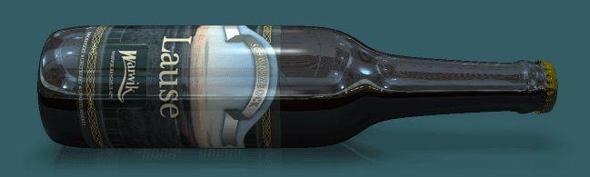 """Schwarzbock'en """"Lause""""  Lause er en klassisk Schwarzbier, som den brygges i Thüringen, og er som de fleste tyske Schwarzbier i dag undergæret. Der er anvendt pilsnermalt og mørkristede malttyper, der giver øllet en karakteristisk krydret smag og glød. Hallertau humle matcher med sin afdæmpede bitterhed øllets sødme og fylde. På grund af alkoholstyrken er Lause blevet forfremmet til Schwarzbock!"""