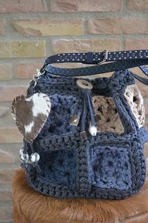 Denim Crochet Bag