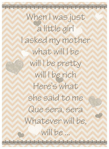 """""""Que sera, sera"""".. the words the martinelli family lives by"""
