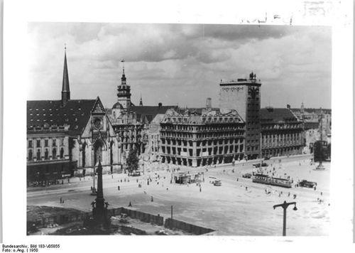 ourvintagepast:  Leipzig, Karl-Marx-Platz