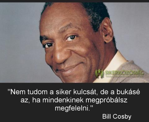 Bill Cosby, amerikai színész és humorista gondolata a siker és a bukás titkáról. A kép forrása: Sikerközösség.hu