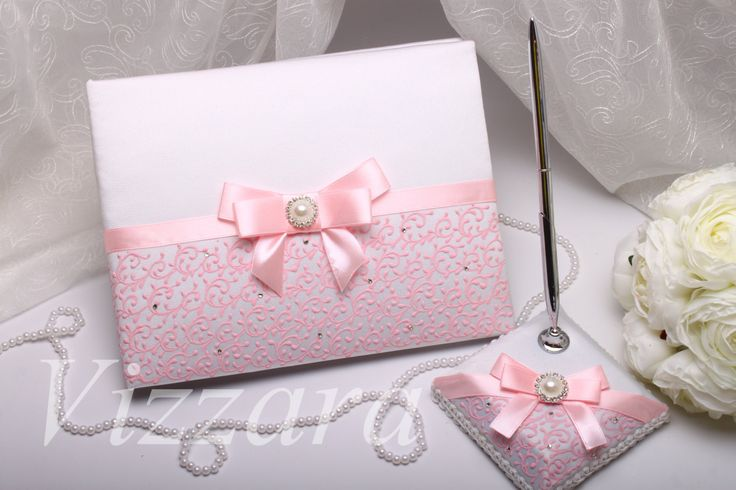 Wedding guest book pink A5 -HAND-Painted- Wedding gift Wedding pink Personalization Handmade Guestbook summer Wedding book pink Guestbook by VIZZARA on Etsy