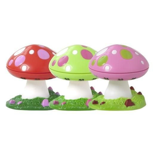 Assorted Egg Timers In Mushroom Designs By Rice - Fig. 1