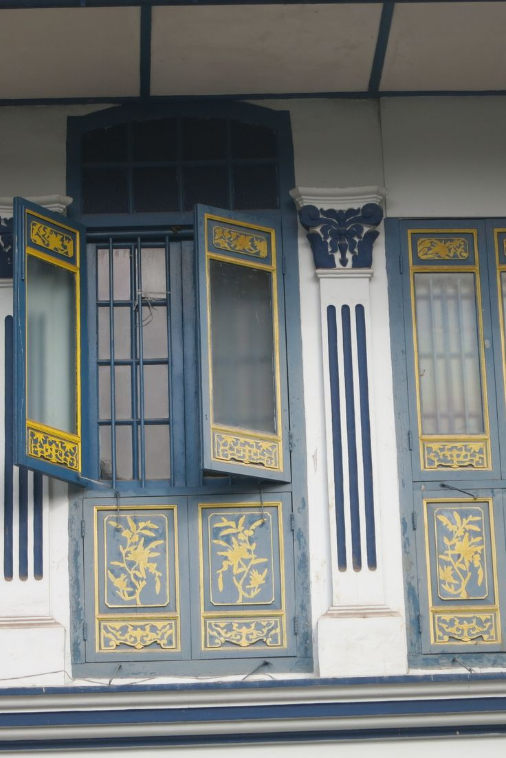 I love the detail in these doors, on a colonial-era house in Emerald Hill, Singapore.