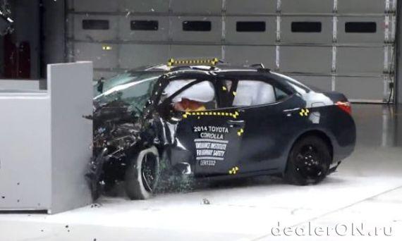 Краш-тест Toyota Corolla 2014 (Тойота Королла)