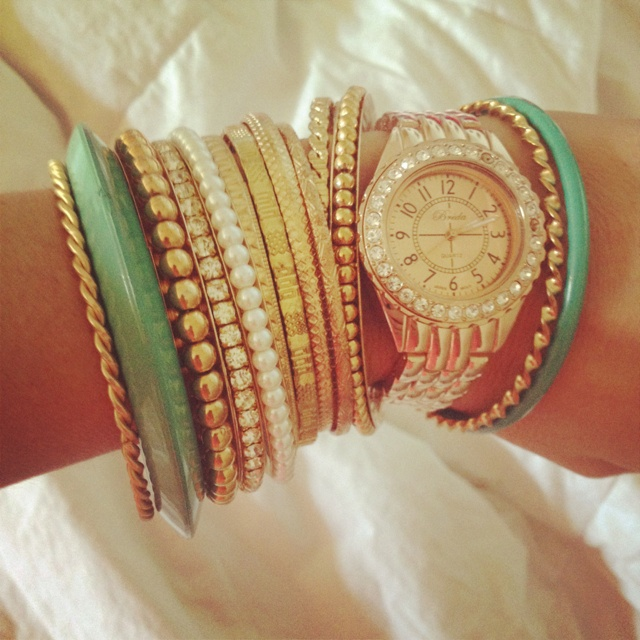 Love the watch and bracelet combo.