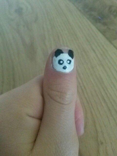 Panda nagels, so cute!