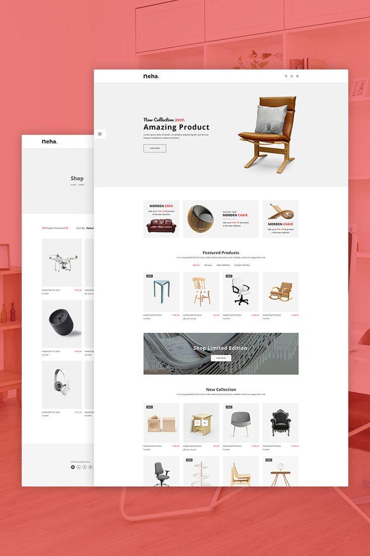 Neha - Responsive Multipurpose eCommerce Website Template Big Screenshot