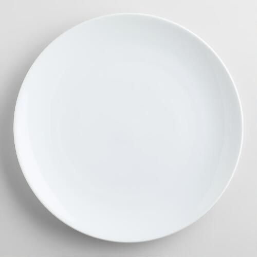 One of my favorite discoveries at WorldMarket.com: White Coupe Dinner Plates, set of 4