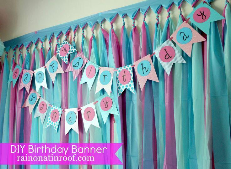 Best 25+ Diy party banner ideas on Pinterest | DIY party garland ...