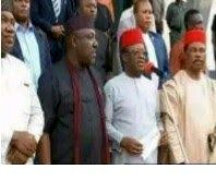 The governors of the five South-East states took the decision during a five-hour closed-door meeting at the Government House in Enugu which was attended by the Deputy Senate President Ike Ekweremadu President-General of Ohanaeze Ndigbo John Nwodo and the General Officer Commanding 82 Division of the Nigerian Army Lt-Gen Adamu Abubakar. Among the resolutions during the meeting is an appeal to the President to withdraw the military in the South East at the moment.In spite of the fact that the…