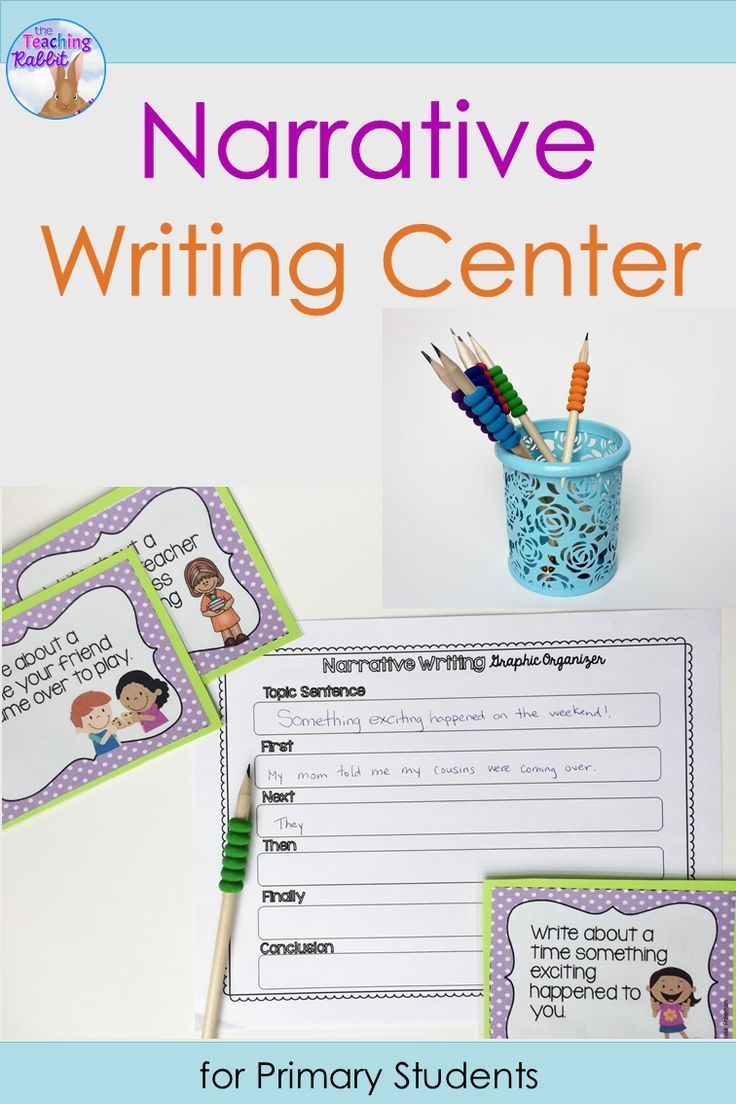 Use these graphic organizers and narrative writing prompt cards to help teach lessons about writing personal narratives.  Good for 1st and 2nd grade literacy centers.