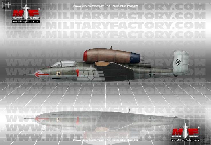 Heinkel He 162 Volksjager (Peoples Fighter) - The German Heinkel He 162 was of…