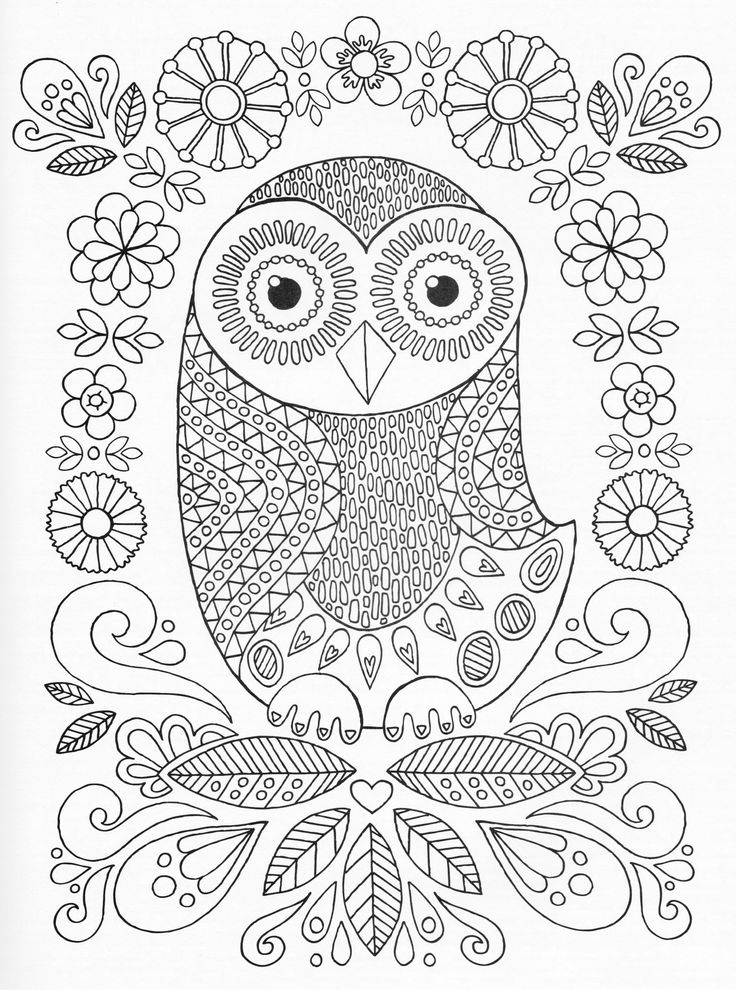 aztec owl coloring pages - photo#30