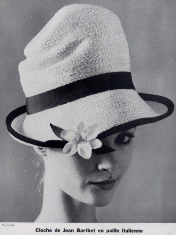 Jean Barthet (Millinery) 1963  Cloche en Paille Italienne, Photo Vassal Hats by bridgette.jons