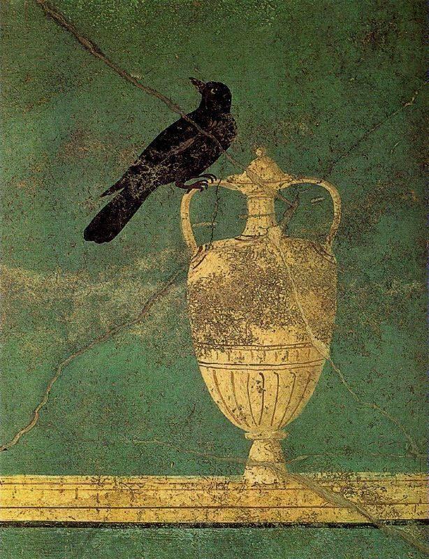 Rook, c. 100 BCE. Roman fresco, Pompeii.