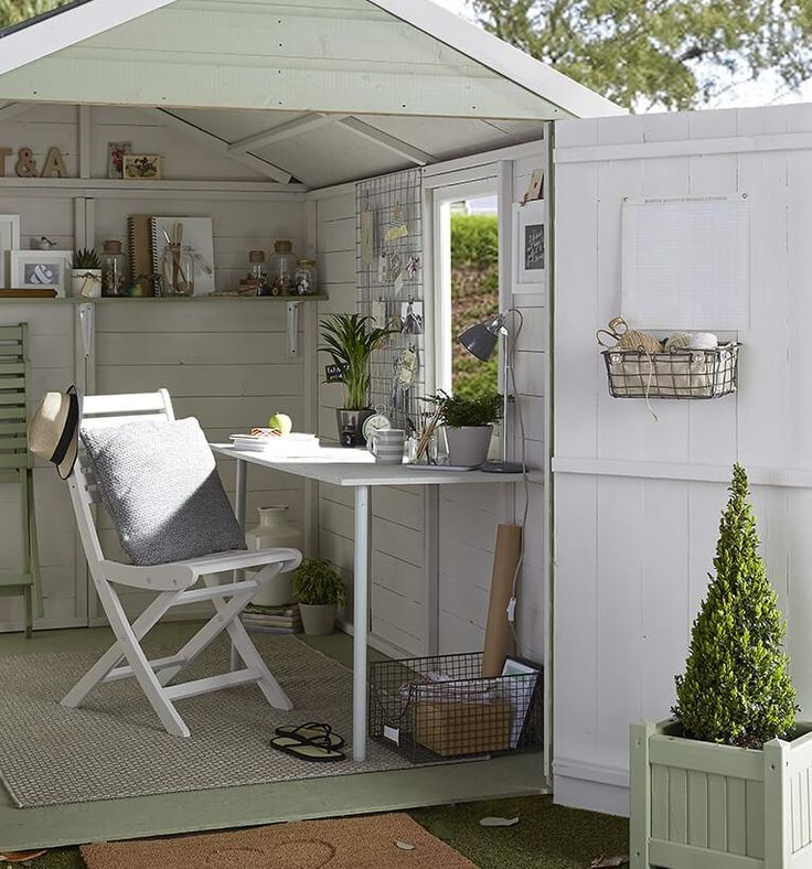 The possibilities are endless, this cool, calm makeover is a tranquil space to unwind and get creative.   Transform your shed into an extraordinary space and let your imagination run wild.