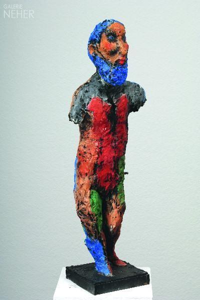 Markus lüpertz quot hercules design model cast e a bronze painted cm