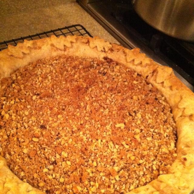 Pumpkin pie w walnut brown sugar topping | Baked Sweets: Pies, Tarts ...