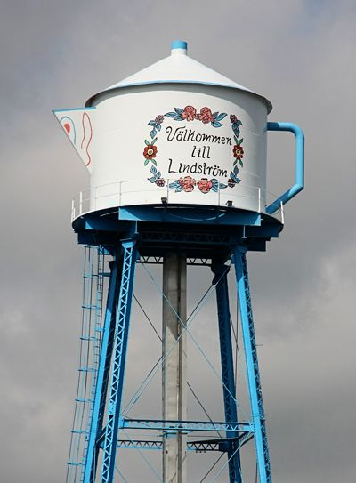 The Lindstrom Tea Kettle Water Tower, Lindstrom, Minnesota