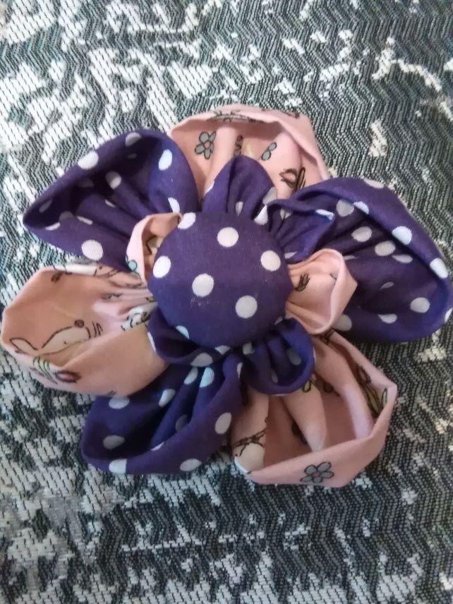 Fabric flower brooch £2.50