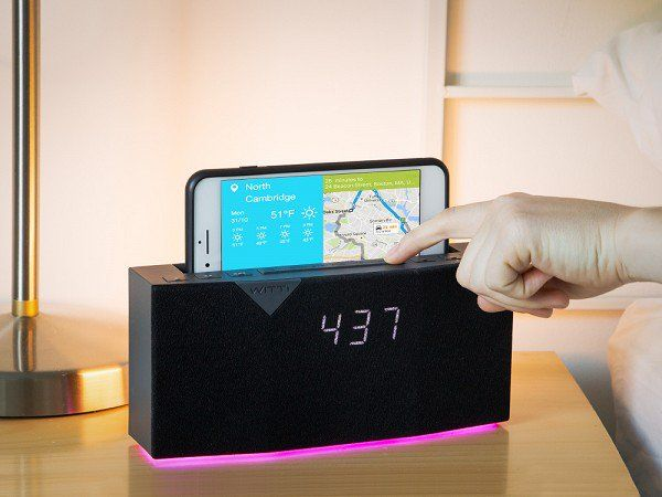 This smart alarm clock wakes you with gradually increasing music, softly rising light, a 100% charged phone . . . even a weather and traffic forecast. Beddi syncs up to your device to offer a whole host of other features, too—from playing music to generating white noise, and calling you a cab. Customize it to suit your morning routine.